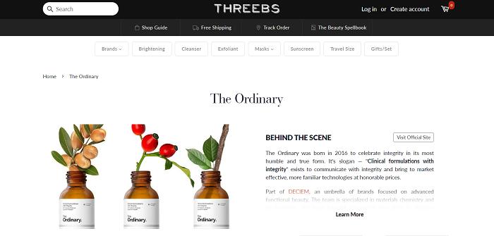 Threebs website